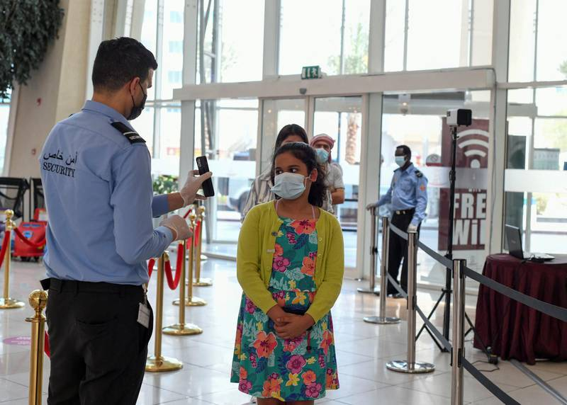 Face Scanning Detection-AD  The public has to follow new protocol of face scanning detection at Al Wahda Mall in Abu Dhabi on June 28, 2021. Khushnum Bhandari/ The National Reporter: N/A News