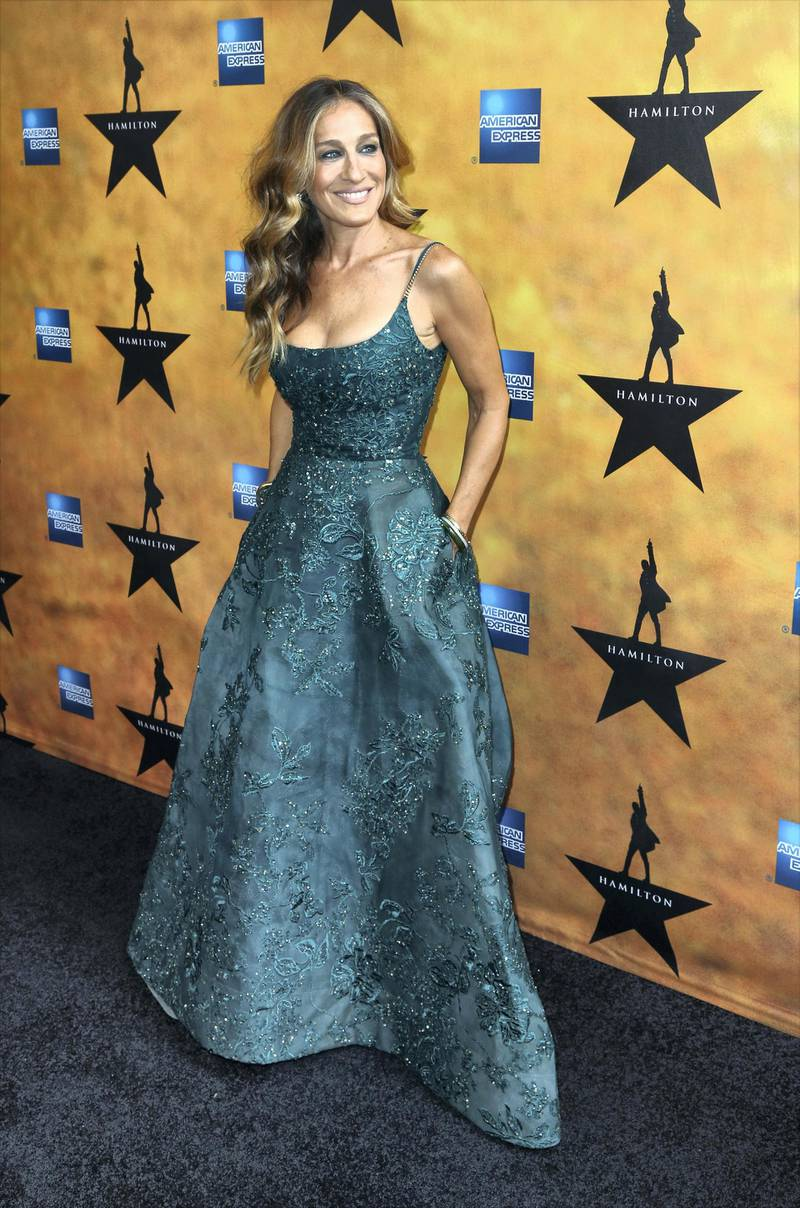 NEW YORK, NY - AUGUST 06:  Sarah Jessica Parker attends the Broadway Opening Night Performance of 'Hamilton at the Richard Rodgers Theatre on August 6,, 2015 in New York City.  (Photo by Walter McBride/WireImage)