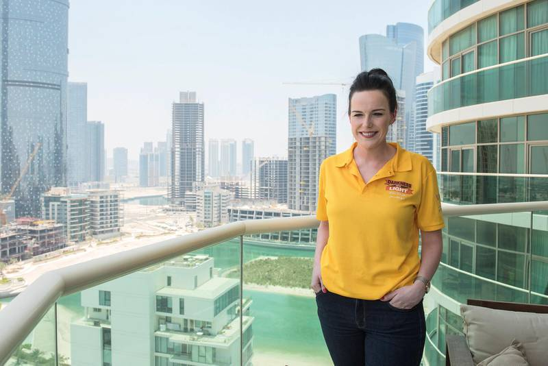 Portrait of Maria Kelly, Chairperson of Darkness into light, Abu Dhabi,UAE on 9th June 2020
