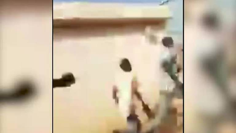 An image that illustrates this article Watch as Sudanese soldiers open fire on protesters after coup