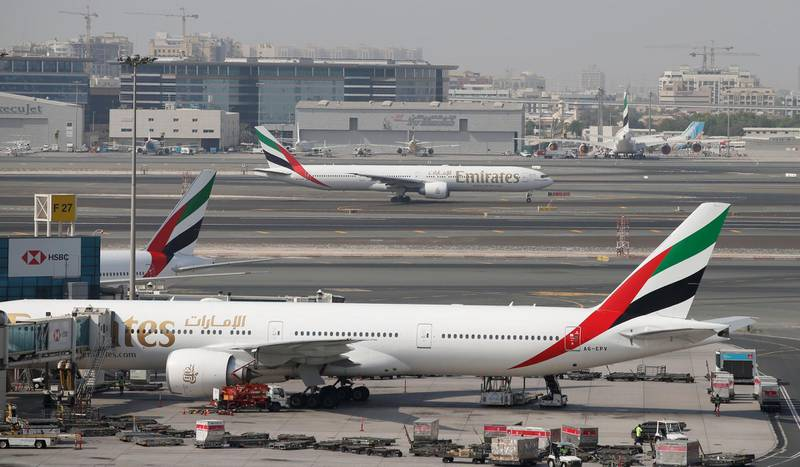 Mandatory Credit: Photo by ALI HAIDER/EPA-EFE/Shutterstock (10320571d)General view of the Dubai International Airport, United Arab Emirates, 24 June 2019. As a result of the downing of the US unmanned Global Hawk aircraft by Iran in Hormuz Strait region many of the world's leading carriers in UAE such Emirates Airlines, Etihad and others in additional to the International flying operators such as US carries, British Airways, Qantas and Singapore Airlines rerouted some of their flights beginning on 21 June 2019 to avoid from flying over some paths from Hormuz Strait and Oman Gulf as a precautionary procedure to secure the civilian flights from the mounting of crisis in the Gulf region, this step came after a decision by US Federal Aviation Administration banning the US carriers from flying over the regions which are under Iran's control.World's leading carriers reroute their flights in Arab Gulf region, Dubai, United Arab Emirates - 24 Jun 2019