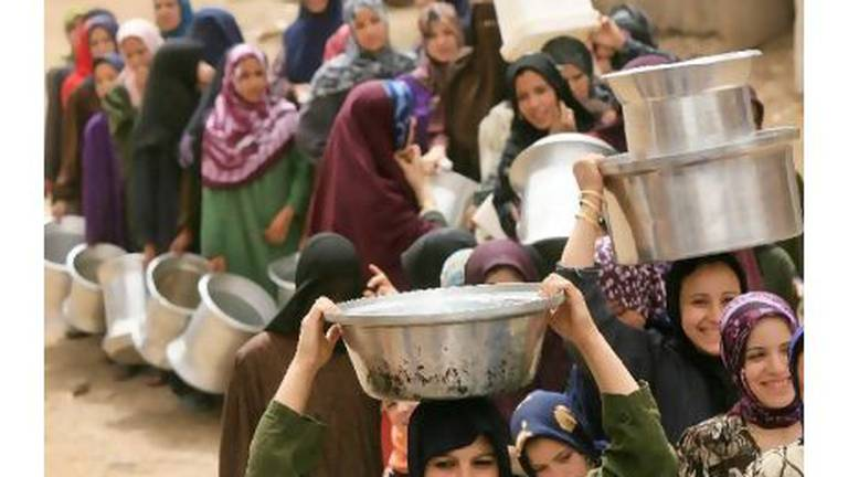 An image that illustrates this article Egypt's 'water violators' will be denied subsidised food, says El Sisi