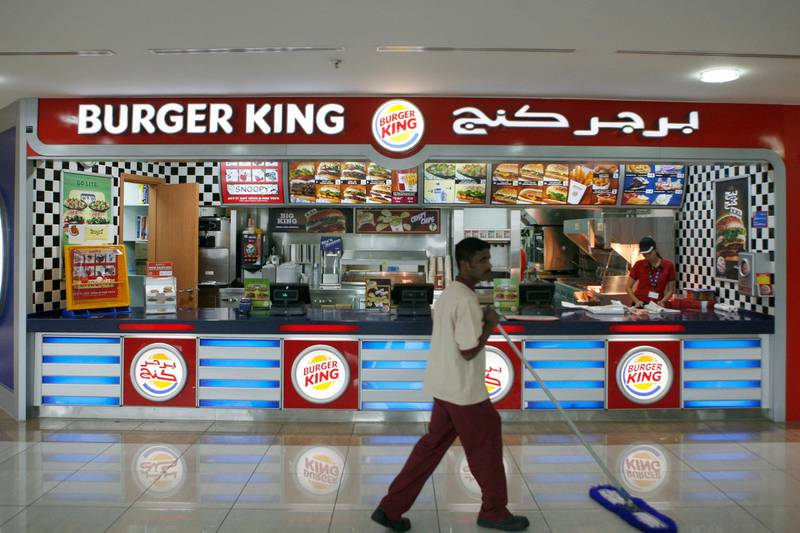 ABU DHABI Ð March 16, 2008: Burger King in Al Wahda Mall in Abu Dhabi (Photo by Ryan Carter / The Nation)  *** Local Caption *** RC001-BurgerKing.jpg