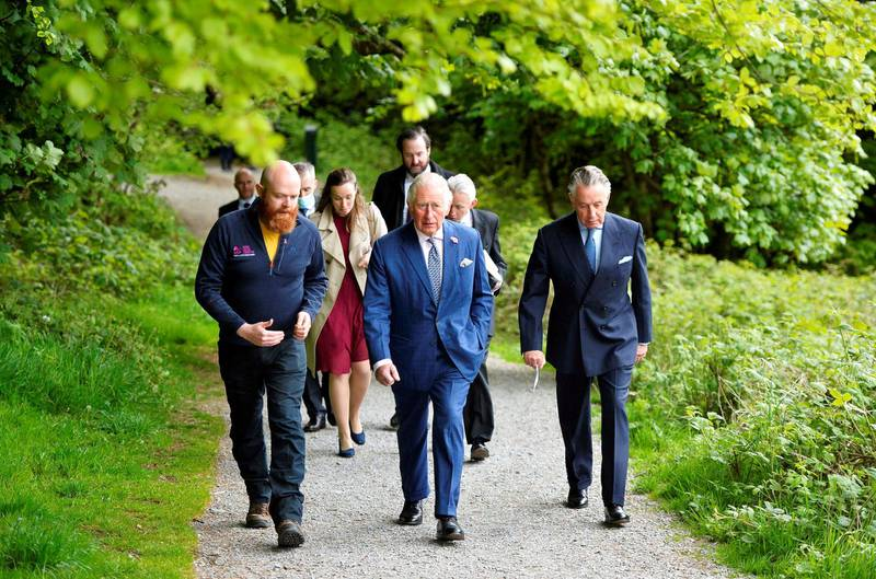 Britain's Prince Charles takes a tour of Slieve Gullion forest park in Co Down, Northern Ireland, Britain May 18, 2021. Mark Marlow/Pool via REUTERS