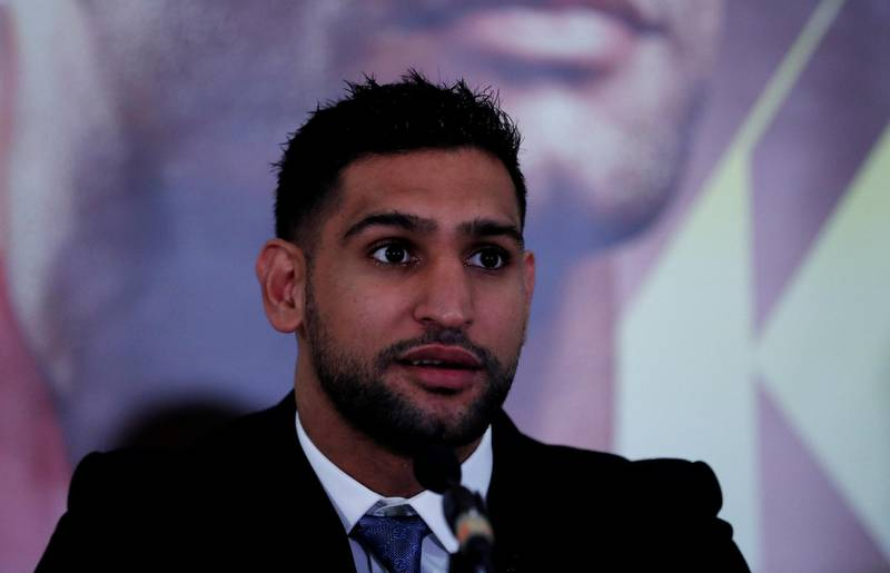 Boxing - Amir Khan Press Conference - Dorchester Hotel, London, Britain - January 10, 2018   Amir Khan during the press conference    Action Images via Reuters/Andrew Couldridge
