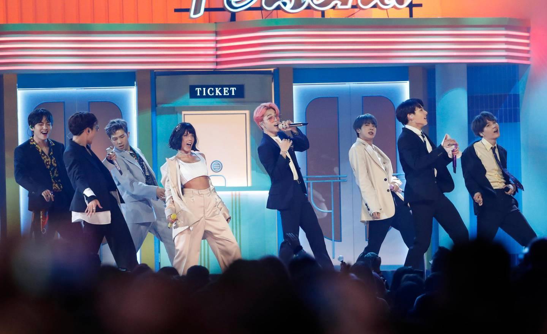 2019 Billboard Music Awards- Show - Las Vegas, Nevada, U.S., May 1, 2019 - BTS perform. REUTERS/Mario Anzuoni