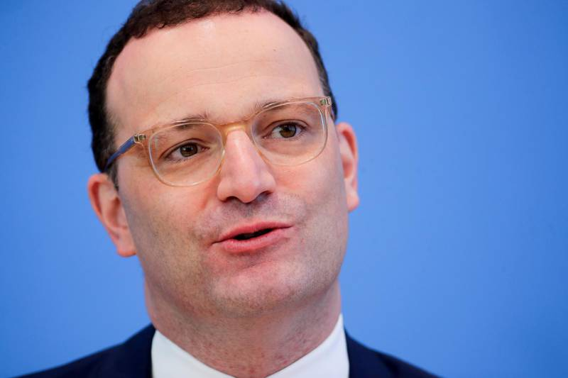 FILE PHOTO: German Health Minister Jens Spahn attends a news conference on the coronavirus disease (COVID-19) pandemic in Berlin, Germany June 18, 2021. REUTERS/Hannibal Hanschke/Pool/File Photo