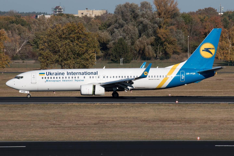 Ukraine International Airlines Boeing 737-800 with the registration UR-PSR, taxis at Berlin Tegel airport, Germany October 31, 2018. Picture taken October 31, 2018.     REUTERS/Jan Seba