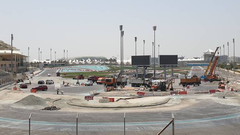 An image that illustrates this article Abu Dhabi GP: Yas Marina Circuit upgrades on schedule for October reopening