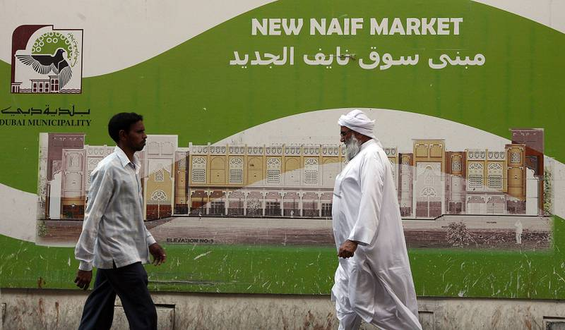 DUBAI, UNITED ARAB EMIRATES Ð Dec 29: New Naif market is in under construction in Naif area in Dubai. (Pawan Singh / The National) For News. Story by Praveen Menon *** Local Caption ***  PS2912- NAIF SOUK19.jpg