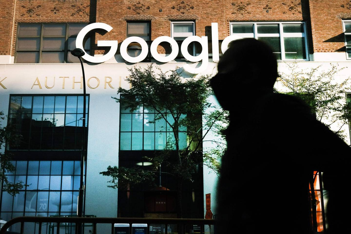 (FILES) In this file photo Google's offices stand in downtown Manhattan on October 20, 2020 in New York City.  Employees at Google and other units of parent firm Alphabet announced the creation January 4, 2021 of a union, aiming for a bigger role in company decisions in a move which steps up the activism brewing in Silicon Valley giants. The Alphabet Workers Union, affiliated with the Communications Workers of America, aims to represent well-compensated tech workers as well as temporary workers and contractors, according to a statement.  / AFP / GETTY IMAGES NORTH AMERICA / SPENCER PLATT