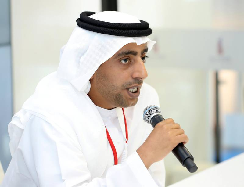 Dubai, United Arab Emirates - September 11th, 2017:  Nasser Butti Omair bin Yousef chairman of Union properties at the 16th addition of Cityscape Global. Monday, September 11th, 2017 at World Trade centre, Dubai.