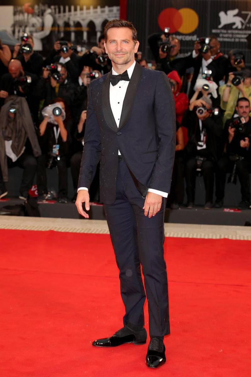 VENICE, ITALY - AUGUST 31:  Bradley Cooper walks the red carpet ahead of the 'A Star Is Born' screening during the 75th Venice Film Festival at Sala Grande on August 31, 2018 in Venice, Italy.  (Photo by Andreas Rentz/Getty Images)