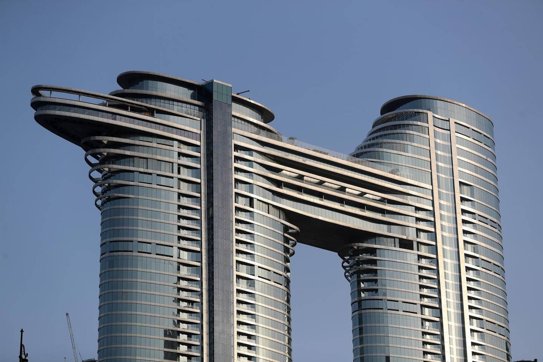 Dubai, United Arab Emirates - Reporter: N/A. News. The Address Sky View in Downtown, Dubai. Tuesday, April 13th, 2021. Dubai. Chris Whiteoak / The National