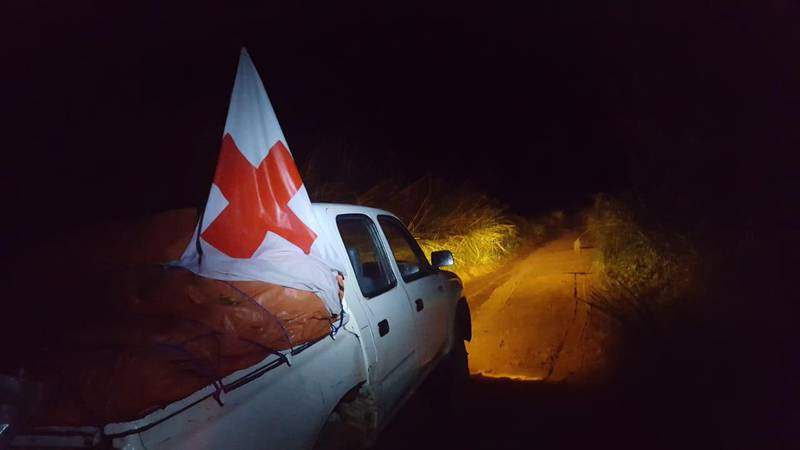 epa06754181 A handout photo made available by The International Federation of Red Cross and Red Crescent (IFRC) shows health workers on their way to Bikoro, the epicenter of the latest Ebola outbreak, in The Democratic Republic Of The Congo, 17 May 2018 (issued 21 May 2018). According to media reports, DR Congo authorities are to begin distributing an experimental vaccine in the fight to contain the current outbreak of Ebola in the country. The World Health Organisation (WHO) has not declared the recent outbreak of Ebola in the Democratic Republic of Congo (DRC) a global health emergency but has issued a statement 18 May 2018 that the risk of spread is 'very high'.  EPA/IFRC HANDOUT  HANDOUT EDITORIAL USE ONLY/NO SALES