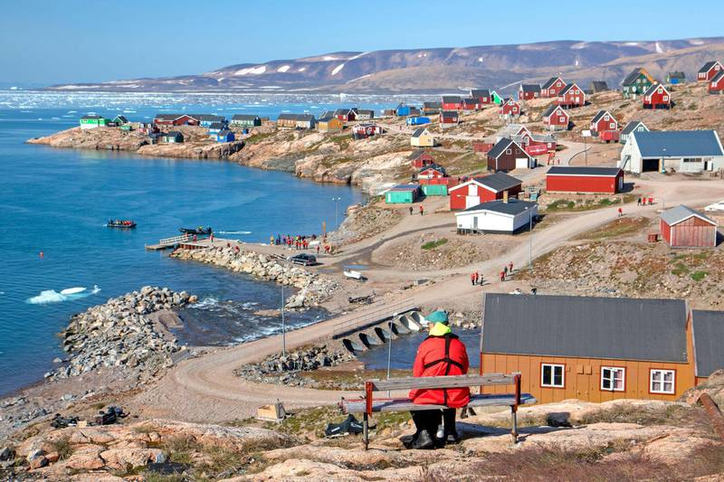 2AFFEM6 The Greenland town of Ittoqqortoormiit. Alamy