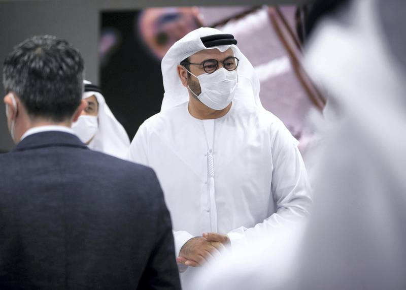 DUBAI, UNITED ARAB EMIRATES. 25 NOVEMBER 2020. His Excellency Mohammad Al Gergawi, CABINET MEMBER, MINISTER OF CABINET AFFAIRS, at the Arab Government Excellence Award ceremony. (Photo: Reem Mohammed/The National)Reporter:Section: