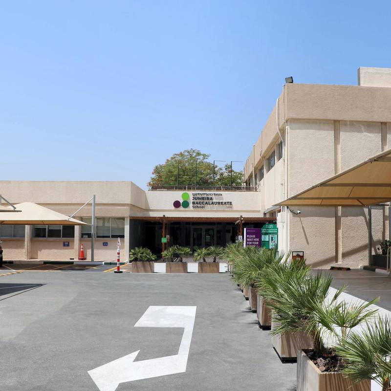 Jumeirah Bacculatera School shows precautionary measures in place.