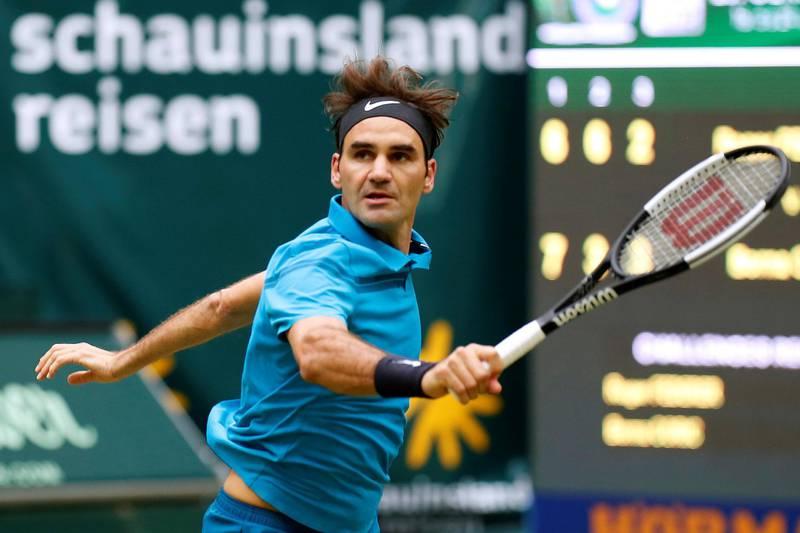 Tennis - ATP - Halle Open Finals - Gerry Weber Stadion, Halle, Germany - June 24, 2018   Switzerland's Roger Federer in action during the final against Croatia's Borna Coric   REUTERS/Leon Kuegeler