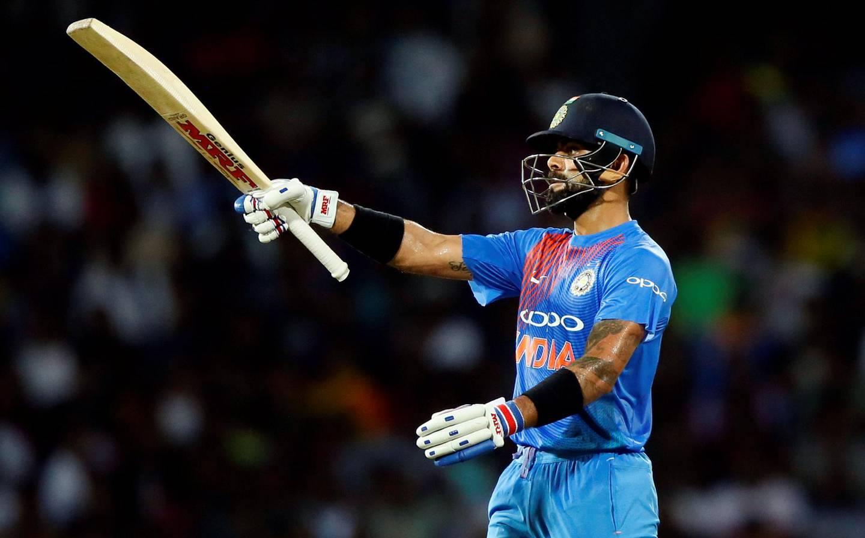 Cricket - Only T20 Match - Sri Lanka v India - Colombo, Sri Lanka - September 6, 2017 - India's captain Virat Kohli celebrates his half century. REUTERS/Dinuka Liyanawatte