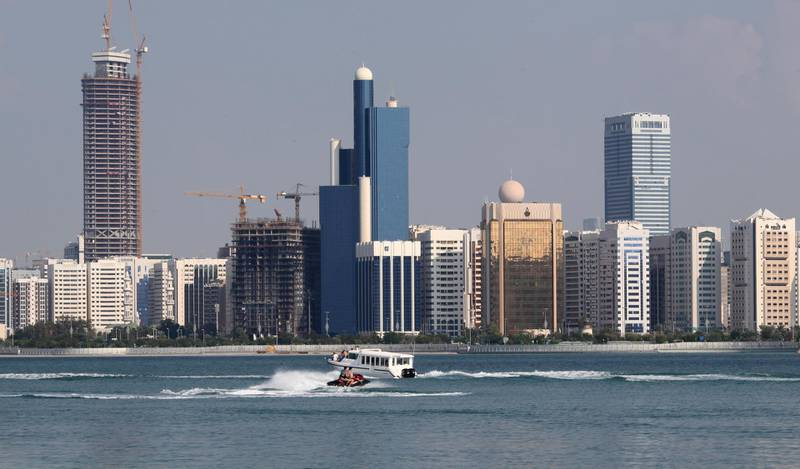 FILE PHOTO: A general view of the Abu Dhabi skyline is seen, December 15, 2009. REUTERS/Ahmed Jadallah/File Photo