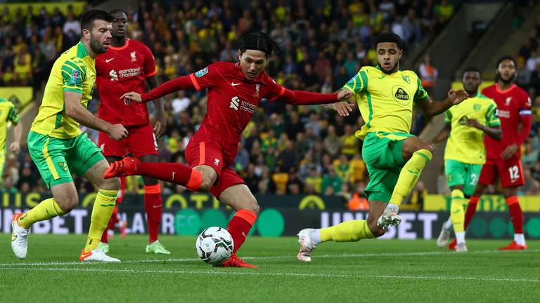 An image that illustrates this article Minamino 'in a really good moment', says Klopp after Norwich victory