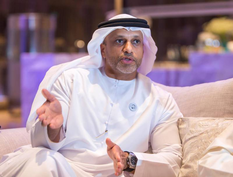 DUBAI, UNITED ARAB EMIRATES - Saeed Ghumran Al Remeithi, CEO Emirates Steel at Middle East Iron and Steel, Grand Hyatt Hotel.  Leslie Pableo for The National for Jennifer Ghana���s story