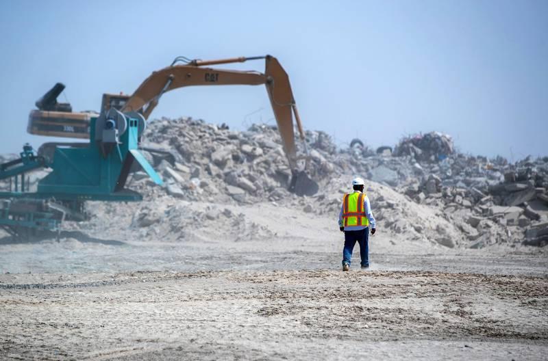 Abu Dhabi, United Arab Emirates, March 10, 2021.  A tour of the Ghayathi waste crusher facility in Al Dhafra region.Victor Besa/The NationalSection:  NAReporter:  Haneen Dajani