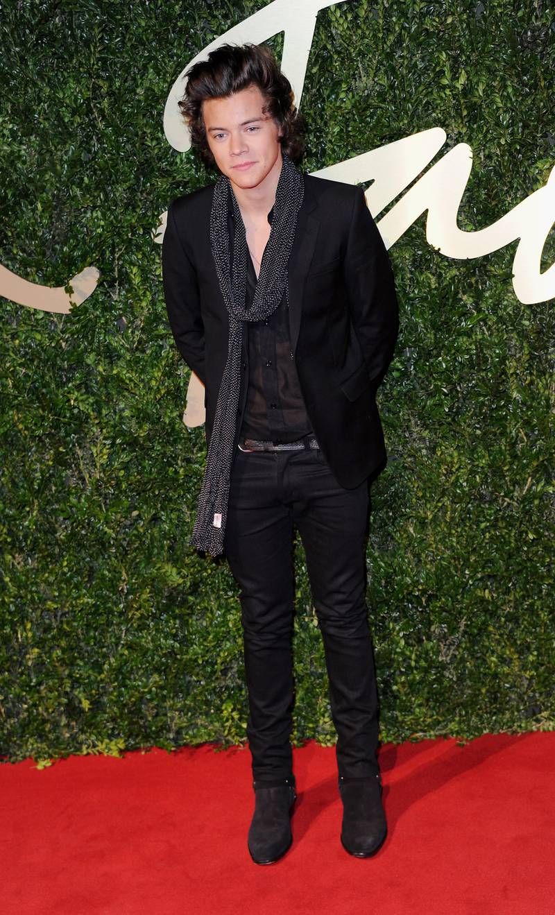 LONDON, ENGLAND - DECEMBER 02:  Harry Styles attends the British Fashion Awards 2013 at London Coliseum on December 2, 2013 in London, England.  (Photo by Stuart C. Wilson/Getty Images)