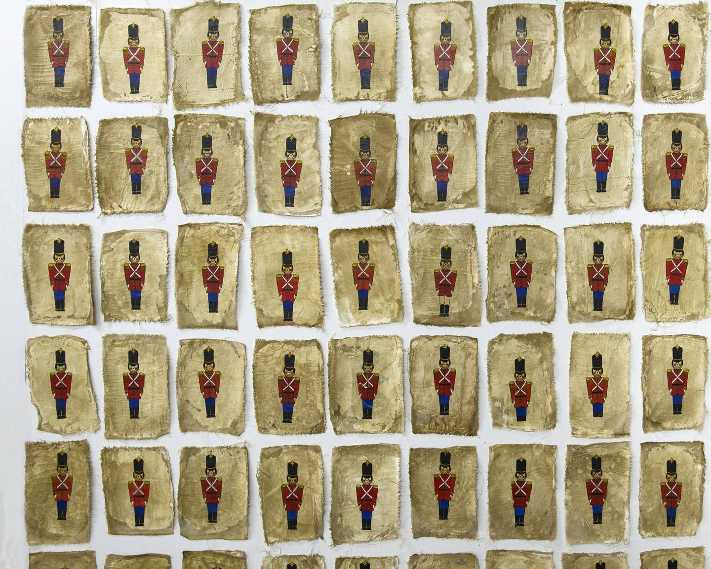 Mohamed Monaiseer's Toy Soldiers (2015-18) at Athr Gallery, Jeddah. Courtesy Athr Gallery and the artist