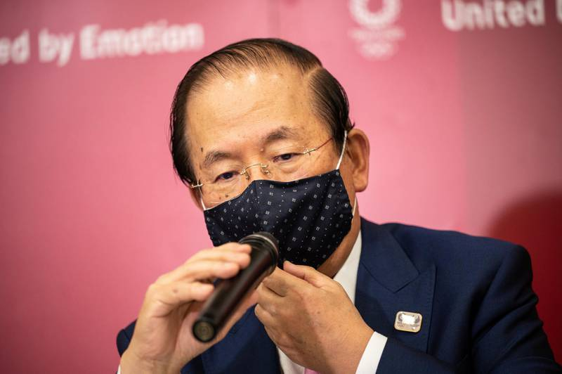 Tokyo 2020 CEO Toshiro Muto speaks during a news conference following the IOC Executive Board Meeting at the Tokyo 2020 headquarters in Tokyo, Japan April 21, 2021. Philip Fong/Pool via REUTERS