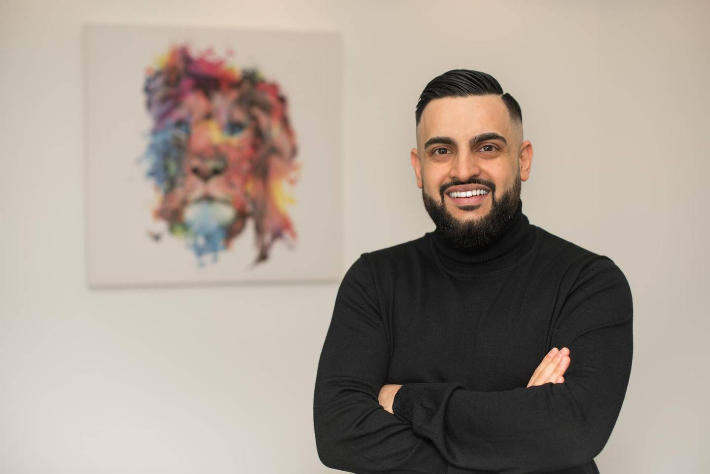 Hasib Khan, founder and chief executive of Udrive, is inspired by his father who had to start business from scratch in Germany after fleeing the war in Afghanistan. Courtesy Hasib Khan