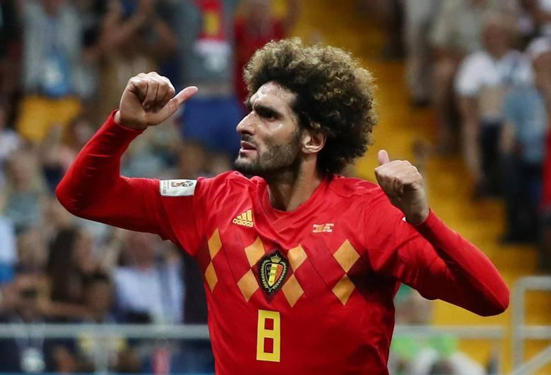Soccer Football - World Cup - Round of 16 - Belgium vs Japan - Rostov Arena, Rostov-on-Don, Russia - July 2, 2018  Belgium's Marouane Fellaini celebrates scoring their second goal            REUTERS/Sergio Perez