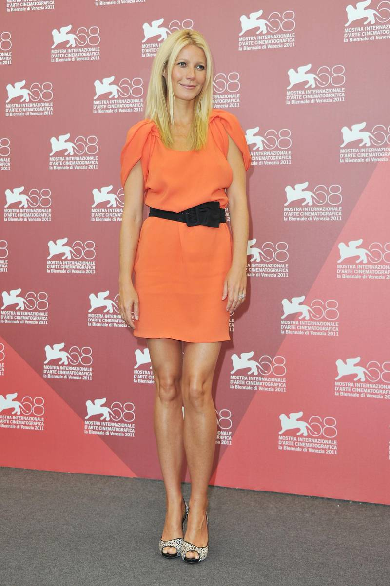 """VENICE, ITALY - SEPTEMBER 03:  Actress Gwyneth Paltrow poses at the """"Contagion"""" photocall during the 68th Venice Film Festival at the Palazzo del Cinema on September 3, 2011 in Venice, Italy.  (Photo by Pascal Le Segretain/Getty Images)"""