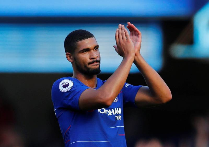 """Soccer Football - Premier League - Chelsea v AFC Bournemouth - Stamford Bridge, London, Britain - September 1, 2018  Chelsea's Ruben Loftus-Cheek applauds fans after the match          REUTERS/Eddie Keogh  EDITORIAL USE ONLY. No use with unauthorized audio, video, data, fixture lists, club/league logos or """"live"""" services. Online in-match use limited to 75 images, no video emulation. No use in betting, games or single club/league/player publications.  Please contact your account representative for further details."""