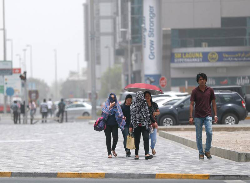 Abu Dhabi, U.A.E., July 6, 2018.Abu Dhabi hazy weather shot from downtown AUH.Victor Besa / The NationalSection:  NAFor:  weather images for Olive Obina