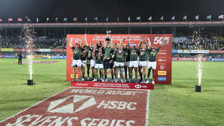 An image that illustrates this article Fans set to return at Dubai Sevens as part of major changes to series