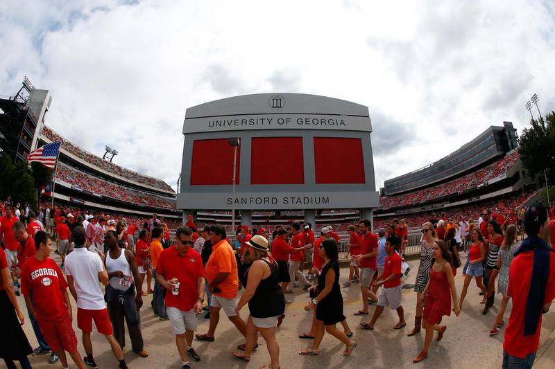 ATHENS, GA - SEPTEMBER 27: A general view of Sanford Stadium prior to the game between the Georgia Bulldogs and the Tennessee Volunteers on September 27, 2014 in Athens, Georgia.   Kevin C. Cox/Getty Images/AFP