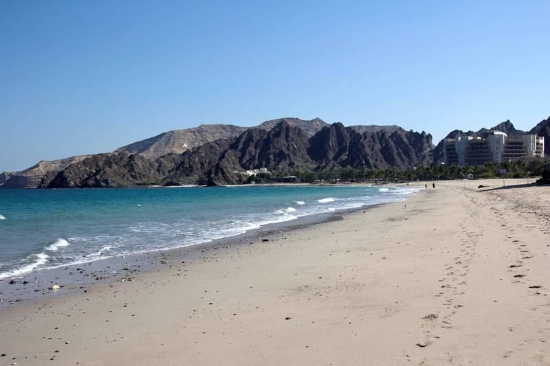 Al Bustan beach, Muscat
