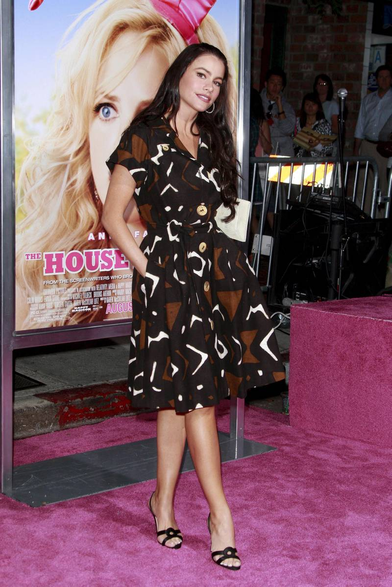epa01459818 Colombian actress Sofia Vergara arrives at the premiere of US director Fred Wolf's 'The House Bunny' held at the Mann Village Theater in Los Angeles, California, USA, 20 August 2008. The movie opens in US theatres on 22 August 2008.  EPA/NINA PROMMER