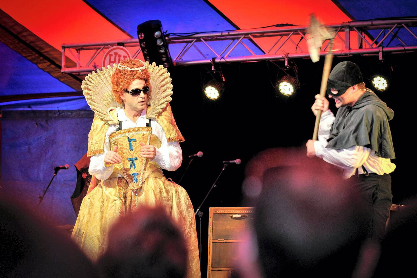 F1WH8G Horrible Histories being performed at Together The People Festival in Brighton.