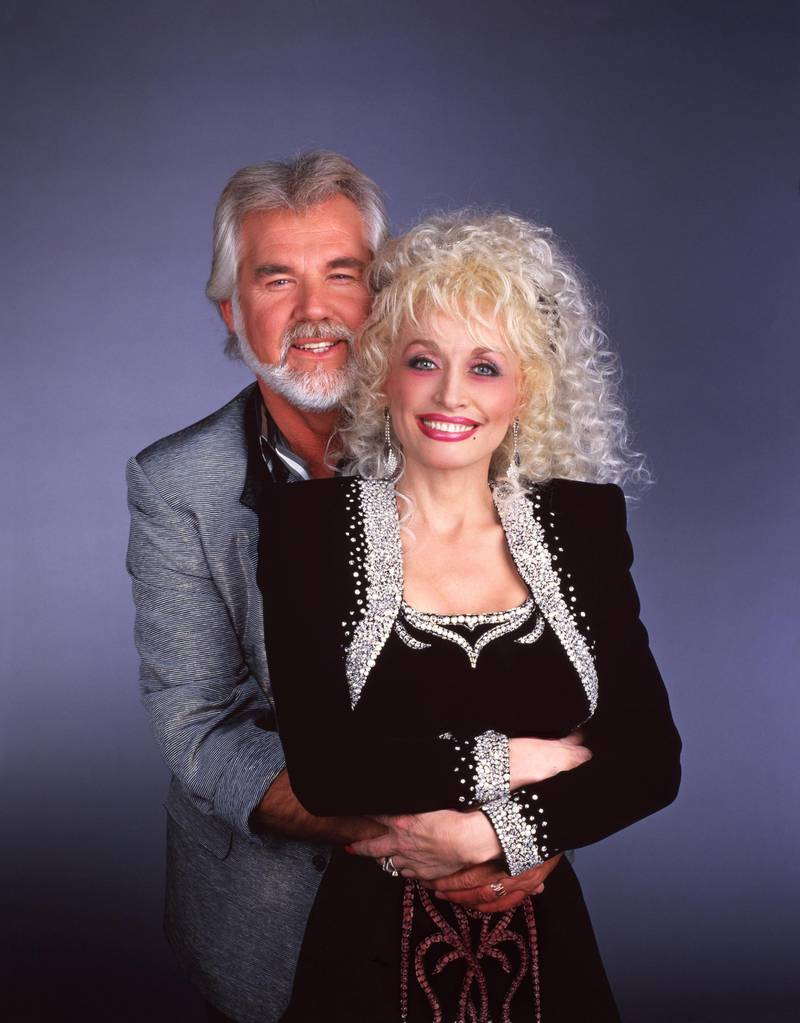 Kenny Rogers and Dolly Parton in 1987. (Photo by Walt Disney Television via Getty Images)