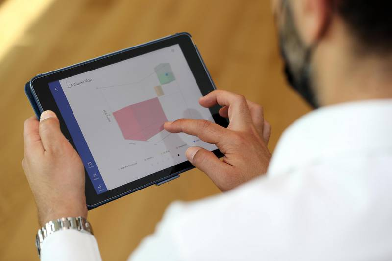 Dr Sina Habibi, Five minute AI test could detected early signs of dementia in Dubai on April 26th, 2021. Chris Whiteoak / The National.  Reporter: Nick Webster for News