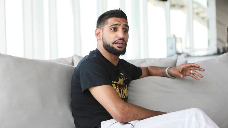 An image that illustrates this article Amir Khan embroiled in racism row with American Airlines