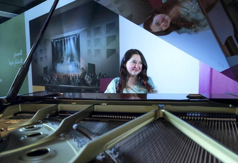 Abu Dhabi, U.A.E., December 17, 2018.  Pianist, Julia PodsekaevaVictor Besa / The NationalSection:  A&LReporter:  Melissa Gronlund