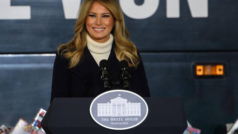 An image that illustrates this article Melania Trump defends renovations as she prepares to leave White House