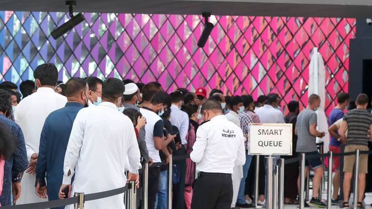 An image that illustrates this article What queues were the longest at Expo at the long weekend?