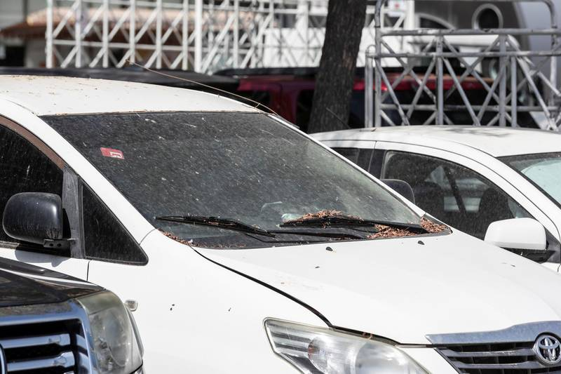 DUBAI, UNITED ARAB EMIRATES. 26 APRIL 2020. Abandoned cars on Baniyas road near the cordoned entrance to the quarentined Al Ras area in Deira. (Photo: Antonie Robertson/The National) Journalist: Ramola Talwar. Section: National.