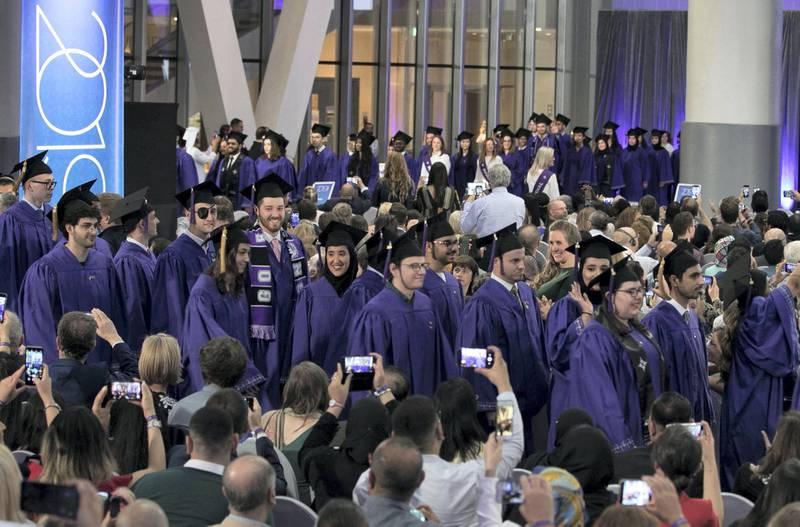 Abu Dhabi United Arab Emirates -Entrance of graduates of NYU Abu Dhabi.  Leslie Pableo for The National