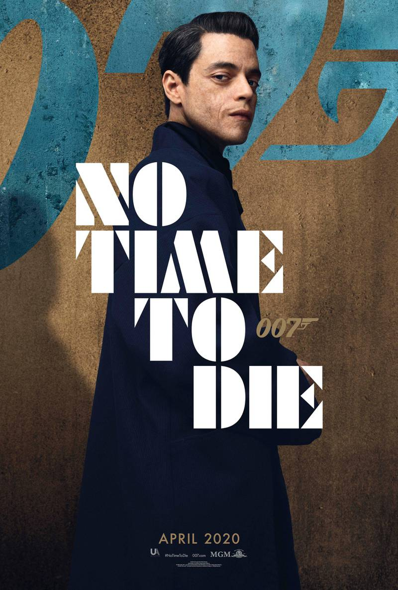 No Time To Die poster featuring Rami Malek. Courtesy MGM
